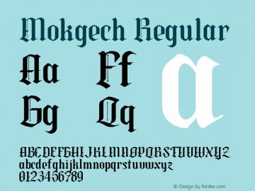 Mokgech Regular Version 1.000图片样张