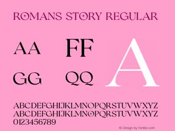 RomansStory-Regular Version 1.000图片样张