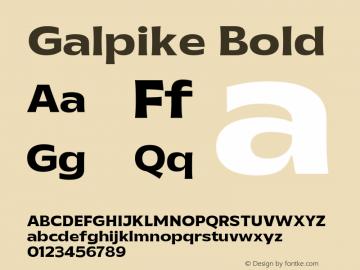 Galpike Bold Version 1.000图片样张