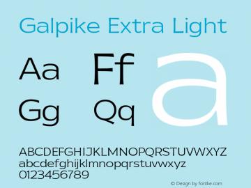 Galpike Extra Light Version 1.000图片样张