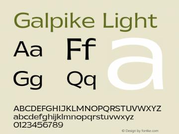 Galpike Light Version 1.000图片样张