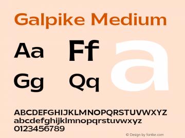 Galpike Medium Version 1.000图片样张