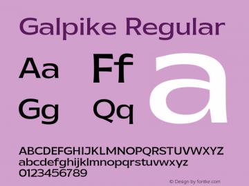 Galpike Regular Version 1.000图片样张