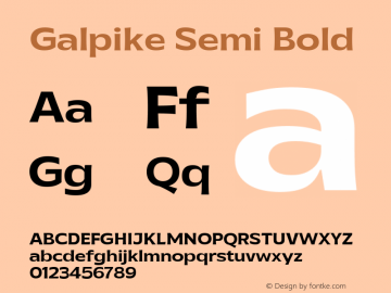Galpike Semi Bold Version 1.000图片样张