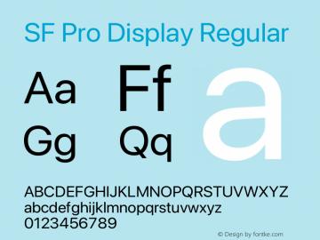 SF Pro Display Regular Version 17.0d11e1图片样张