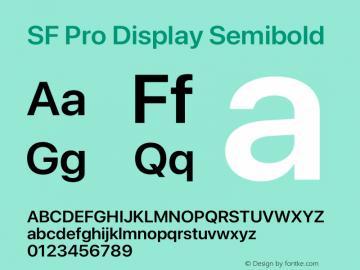 SF Pro Display Semibold Version 17.0d11e1图片样张