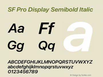 SF Pro Display Semibold Italic Version 17.0d11e1图片样张
