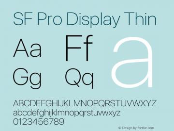 SF Pro Display Thin Version 17.0d11e1图片样张