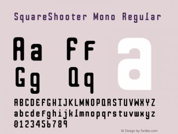 SquareShooter Mono Regular 2.0; 2-07-2004 Font Sample