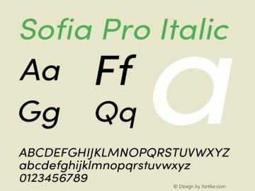 SofiaPro-Regularitalic Version 4.0图片样张