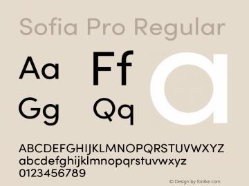 SofiaPro-Regular Version 4.0图片样张
