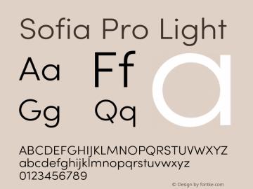 SofiaPro-Light Version 4.0图片样张