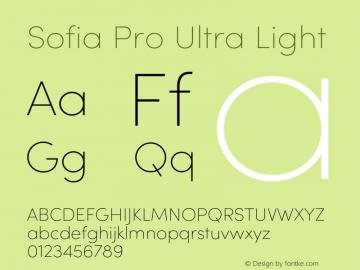 SofiaPro-UltraLight Version 4.0图片样张