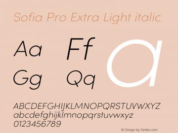 SofiaPro-ExtraLightitalic Version 4.0图片样张