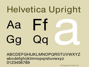 Helvetica Upright 001.000 Font Sample