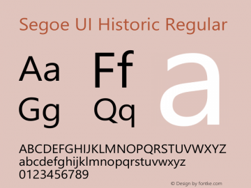 Segoe UI Historic Version 1.03图片样张