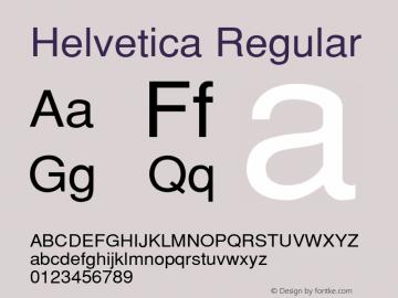 Helvetica Regular 001.000 Font Sample