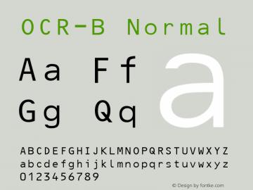 OCR-B Normal 1.0 Thu Jan 08 13:03:33 2009图片样张