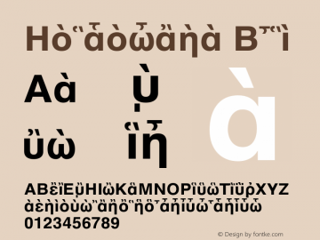 Helvetica Bold 001.003 Font Sample