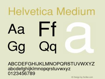 Helvetica Medium 001.004 Font Sample