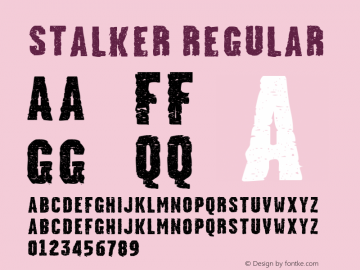 Stalker Regular 1.00 August 2004 Font Sample