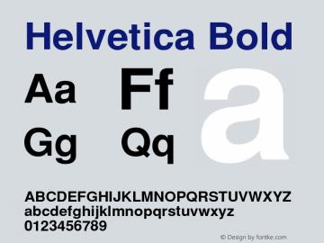 Helvetica Bold 001.000 Font Sample