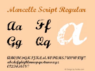 Marcelle Script Regular Version 1.7.3 Font Sample