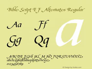 Bible Script EF Alternates Font,BibleScriptEFAlternates Font Bible