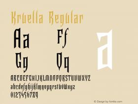 Kruella Regular Version 1.00图片样张