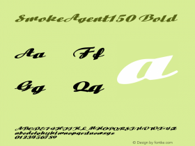 SmokeAgent150 Bold Altsys Metamorphosis:10/29/94 Font Sample
