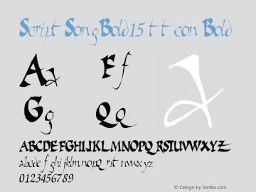 ScriptSongBold15 ttcon Bold Altsys Metamorphosis:10/27/94 Font Sample