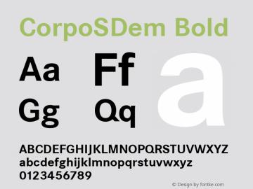 CorpoSDem Bold Version 2.20 Font Sample