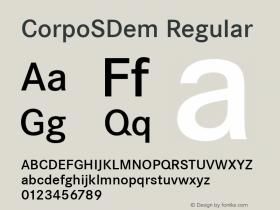 CorpoSDem Regular Version 2.20 Font Sample