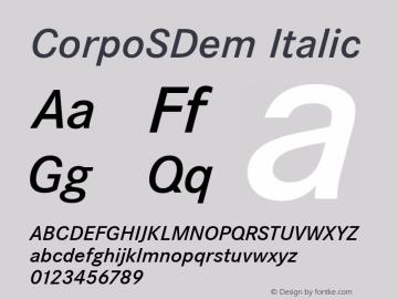 CorpoSDem Italic Version 2.20 Font Sample