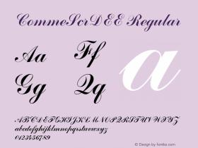 CommeScrDEE Regular 001.004 Font Sample