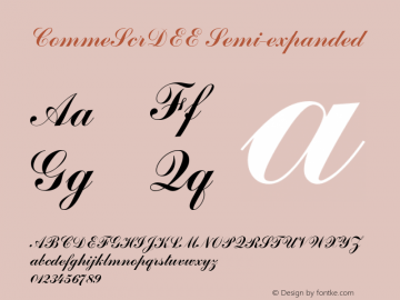 CommeScrDEE Semi-expanded 001.004 Font Sample