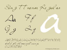 Sing ttnorm Regular Altsys Metamorphosis:10/27/94 Font Sample