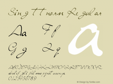 Sing ttnorm Regular Altsys Metamorphosis:10/27/94 Font Sample