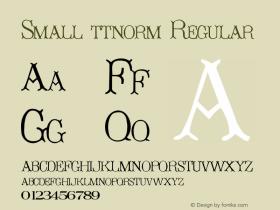 Small ttnorm Regular Altsys Metamorphosis:10/27/94 Font Sample