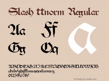 Slash ttnorm Regular Altsys Metamorphosis:10/27/94 Font Sample