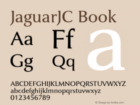 JaguarJC Book Macromedia Fontographer 4.1 23/4/96 Font Sample