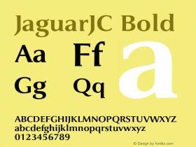 JaguarJC Bold 001.000 Font Sample