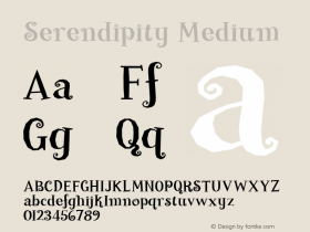 Serendipity Medium 001.000 Font Sample