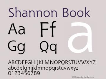 Shannon Book Version 1.0 Font Sample