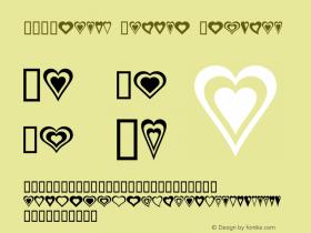 WE_Hearts Galore Regular Macromedia Fontographer 4.1 1/21/01 Font Sample