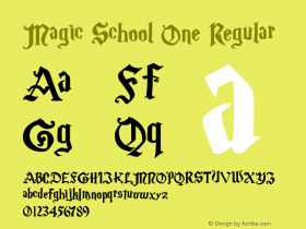 Magic School One Regular 5/30/2004 Font Sample