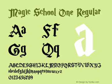 Magic School One Regular 5/30/2004 Font Sample