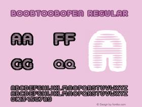 BoobToobOpen Regular Macromedia Fontographer 4.1.5 6/1/04 Font Sample