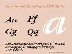 Garamond Handtooled ITC Italic 001.005 Font Sample
