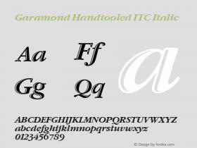 Garamond Handtooled ITC Italic Version 001.005 Font Sample